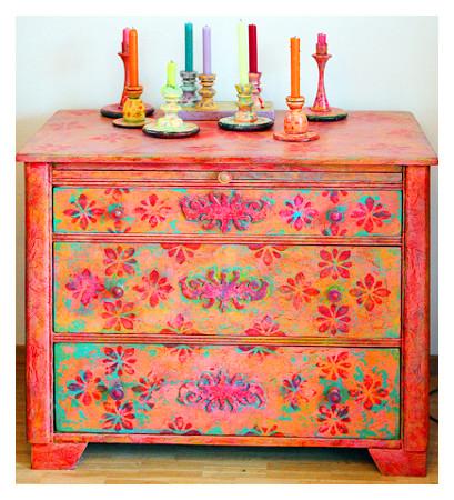 Möbelmalerei mit Patina