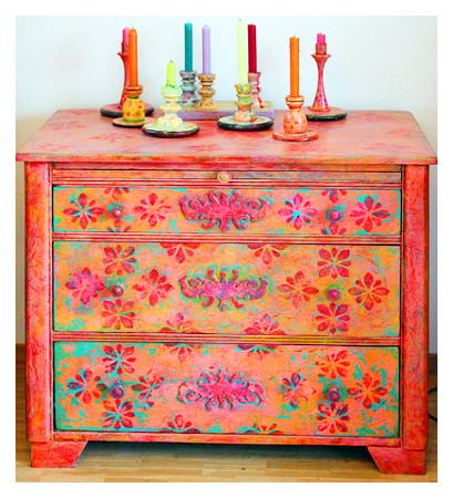 Möbel Bunt möbelmalerei mit patina wohnkunst