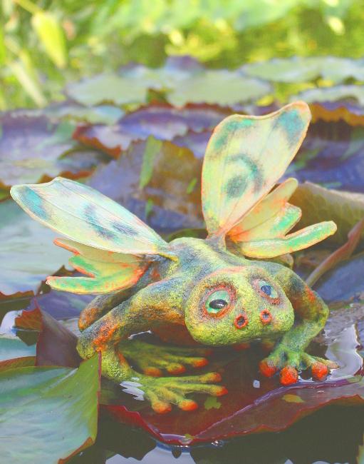 buto volatus Flugkröte