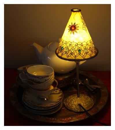 Gelbe marokkanische Lampe