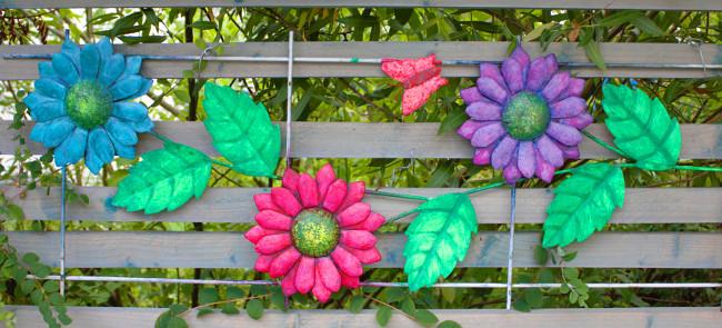 Rankgitter als farbenfrohe Dekoration