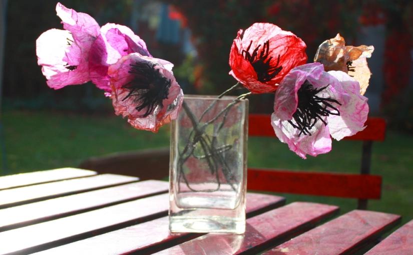 Mohnblumen aus Papier