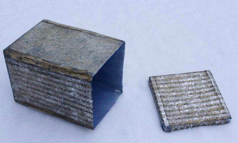 Fake-Metal mit Alufolie