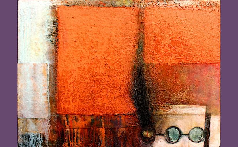 Abstrakte Elemente inOrange