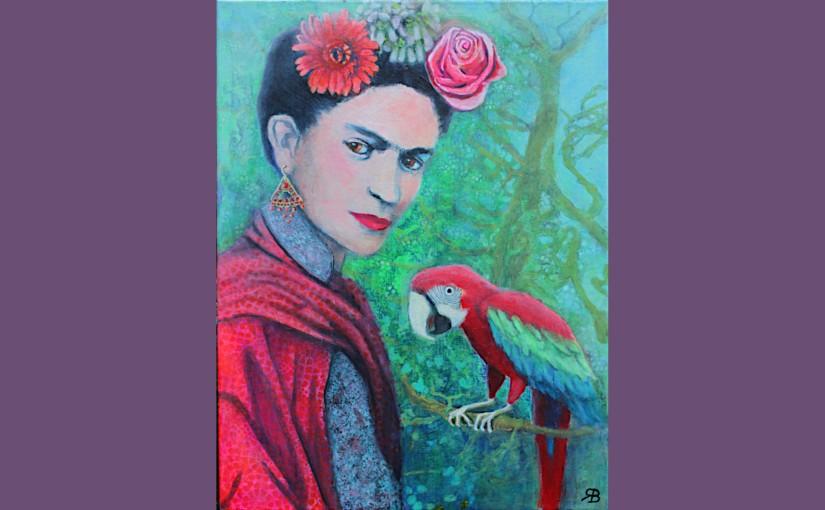 Frida mit Papagei